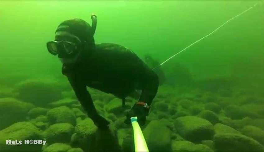 Подводная охота на Байкале 2016